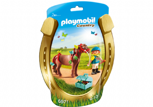 Playmobil Country 6971 Groomer with Butterfly Pony